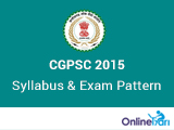 CGPSC Prelims 2015 Syllabus and Exam Pattern