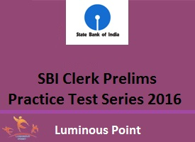 SBI Clerk Mock Test Series Luminous Point
