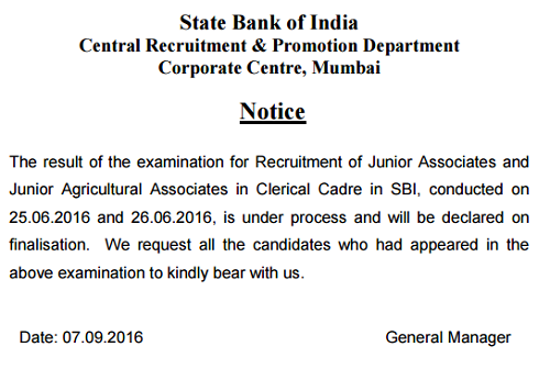 SBI-Clerk-Mains-Result-Delay-Notice