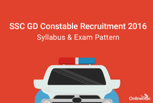 SSC GD Constable Syllabus Exam Pattern 2016