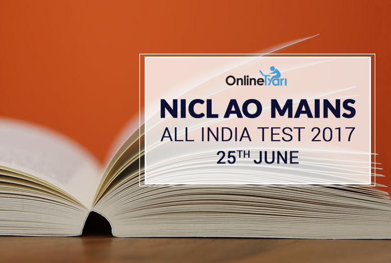 NICL AO Mains All India Test (AIT) 25th June 2017: Register Now