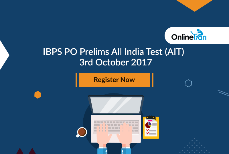 IBPS PO Prelims All India Test (AIT) | 3rd October 2017: Register Now