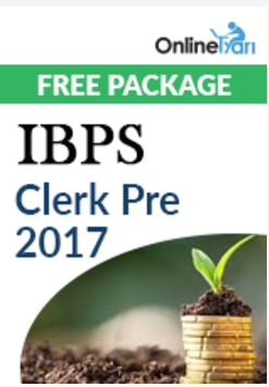 IBPS Clerk Prelims 2017 - Free Package
