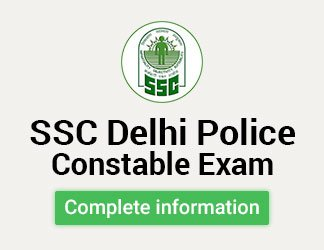 SSC Delhi Police Constable Exam