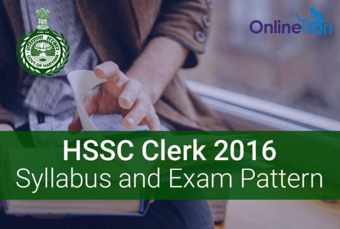 HSSC Clerk Syllabus Exam Pattern 2016