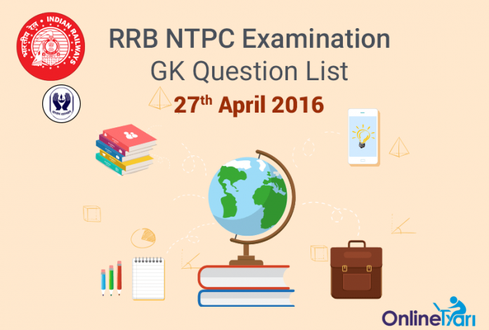 RRB-NTPC-GK-Exam-Questions-27-April-2016