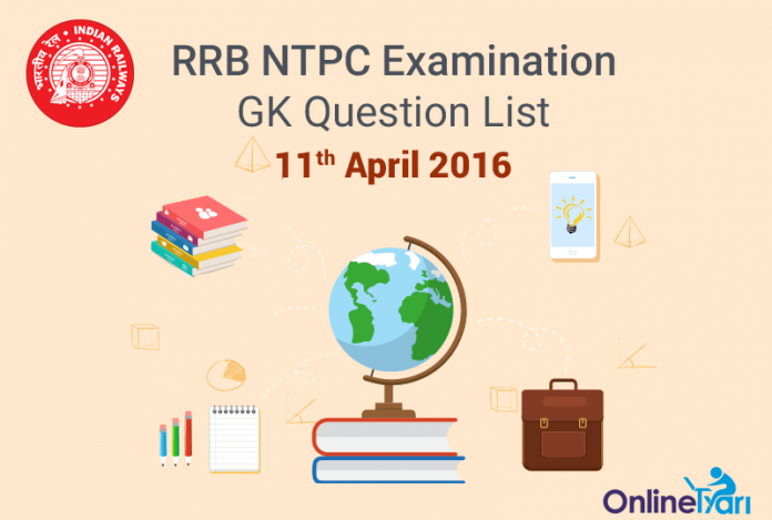 RRB-NTPC-GK-Exam-Questions-11-April-2016