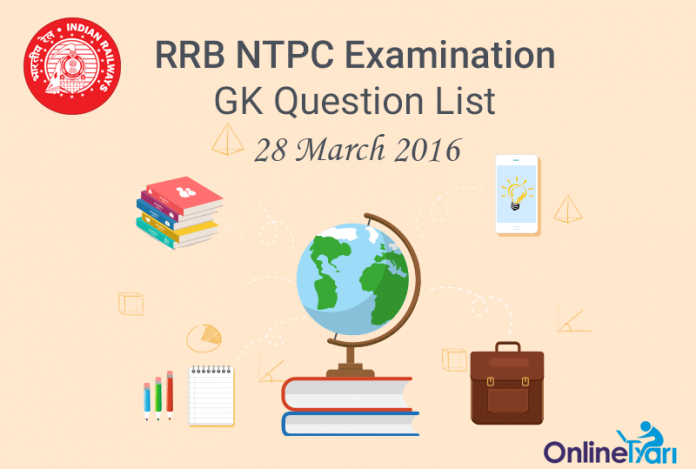 RRB-NTPC-GK-Exam-Questions-28-March-2016