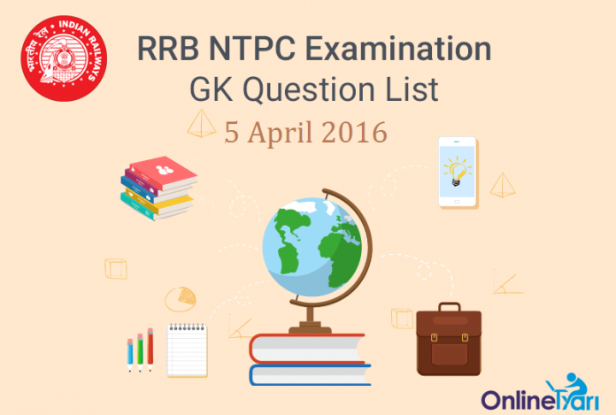 RRB-NTPC-GK-Exam-Questions-5-April-2016