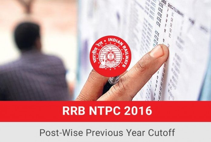 RRB NTPC Previous Year Cut-off (Post-Wise )