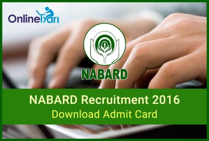 Download NABARD Admit Card Call Letter for Grade A B Officer