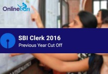 SBI Clerk Previous Year Cut Off Sectional and Overall