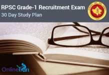 30 Day Study Plan RPSC Grade 1 Lecturer