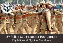 UP Police SI Eligibility Criteria & Physical Standards 2016
