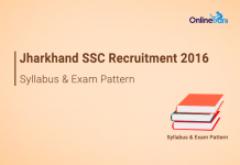 Jharkhand SSC CGL Syllabus Exam Pattern 2016