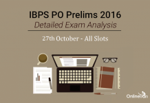 IBPS PO Exam Analysis 27th October 2016