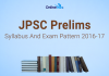 JPSC Prelims Syllabus and Exam Pattern 2016-17