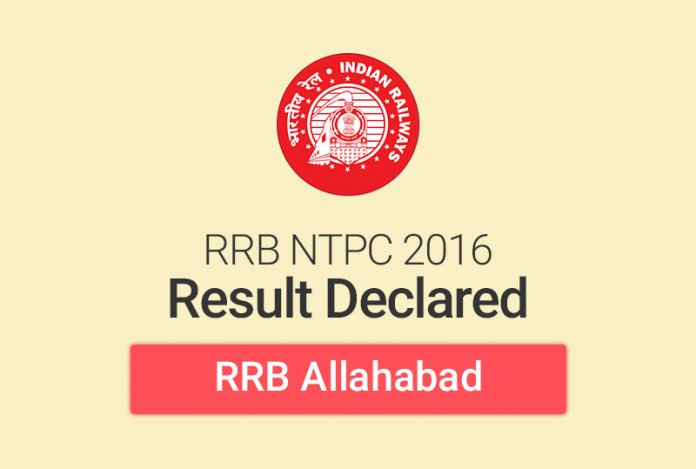 RRB NTPC Result 2016 for Allahabad: Check Merit List