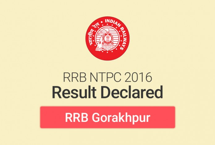 RRB NTPC Result 2016 for Gorakhpur: Check Merit List