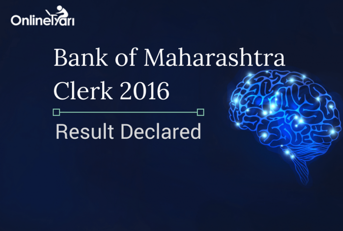 Bank of Maharashtra Clerk Result 2016