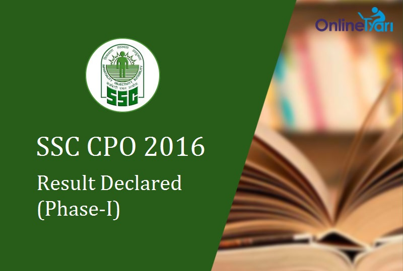 SSC SI ASI Result 2016 Declared: Phase 1 Revised Merit List