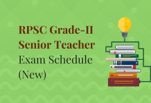 RPSC Grade 2 Senior Teacher New Exam Schedule Released