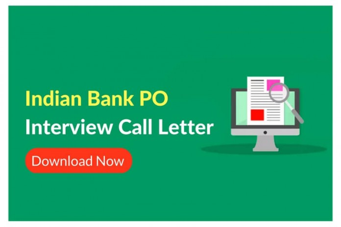 Indian Bank PO Interview Call Letter Released