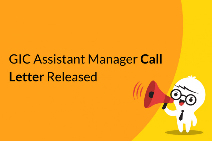 GIC Assistant Manager Call Letter