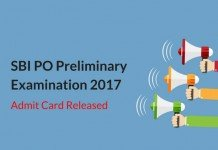 SBI PO Prelims Admit Card 2017 Released: Download Now