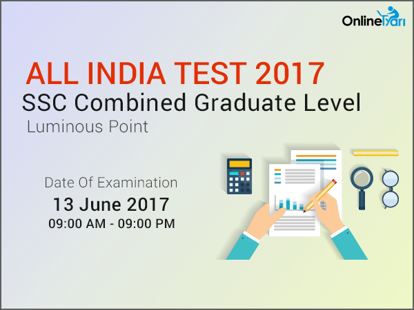 SSC CGL 2017 All India Test (AIT) | 13 June 2017: Register Now