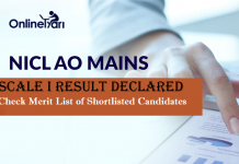 NICL AO Mains Result Declared: List of candidates shortlisted for Interview