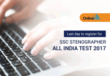 Last day to register for SSC Stenographer All India Test 2017