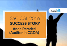 SSC CGL 2016 Success Story: Ande Paradesi (Auditor in CGDA)