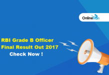 RBI Grade B Officer Final Result Out 2017: Check Now