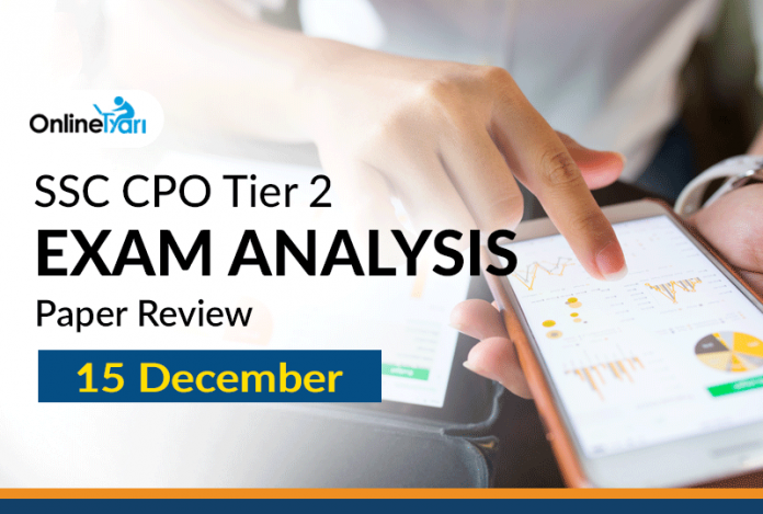 SSC CPO Tier 2 Exam Analysis, English Language Paper (15 December)