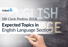 SBI Clerk Prelims 2018: Expected Topics in English Language Section