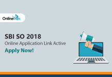 SBI SO 2018 Online Application Link Active: Apply Now