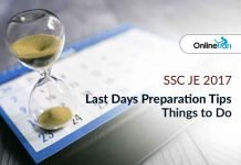 SSC JE 2017 Last Days Preparation Tips | Things to Do