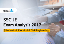 SSC JE Exam Analysis 2017 (Mechanical, Electrical & Civil Engineering)
