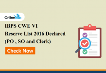 IBPS SO Result 2017 Declared: Check your CWE SPL VI Exam Marks Here