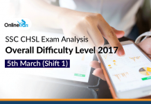 SSC CHSL Exam Analysis, Overall Difficulty Level 2017: 5th March (Shift 1)