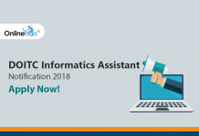 DOITC Informatics Assistant Notification 2018: Apply Now!