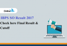 IBPS SO Result Out Check here Final Result & Cutoff