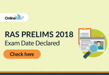 RAS Prelims 2018 Exam Date Declared: Check here