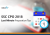 SSC CPO 2018 Last Minute Preparation Tips