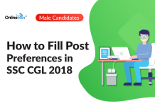 How to Fill Post Preferences in SSC CGL 2018: Male Candidates