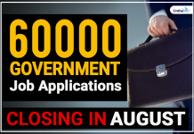60000 Government Job Applications Closing in August