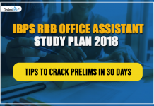 IBPS RRB Office Assistant Study Plan 2018: Tips to Crack Prelims in 30 days
