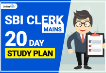SBI Clerk Mains 2018: 20 Days Study Plan