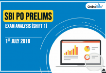 SBI PO Prelims Exam Analysis, Review: 1st July 2018 (Shift 1)